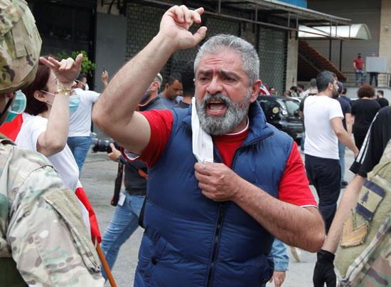 متظاهر فى شمال لبنان