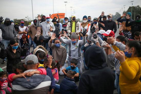 جانب من تكدس المهاجرين
