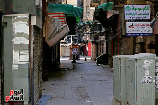 غلق محلات وسط البلد بالقاهرة (2)
