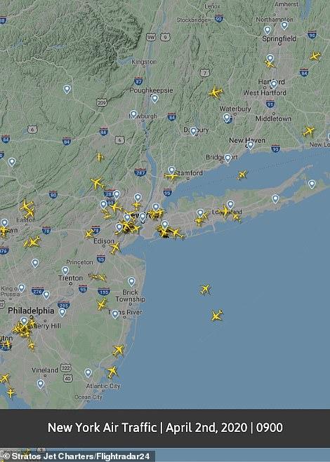 رحلات الطيران بأمريكا فى 2 أبريل 2020