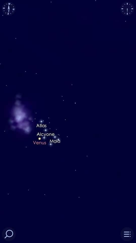 كوكب الزهرة فى اقتران استثنائى هو الأجمل فى القرن الحادي والعشرين مع عنقود نجوم الثريا (3)