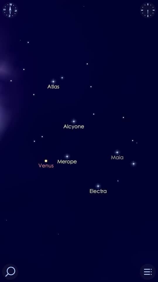 كوكب الزهرة فى اقتران استثنائى هو الأجمل فى القرن الحادي والعشرين مع عنقود نجوم الثريا (4)