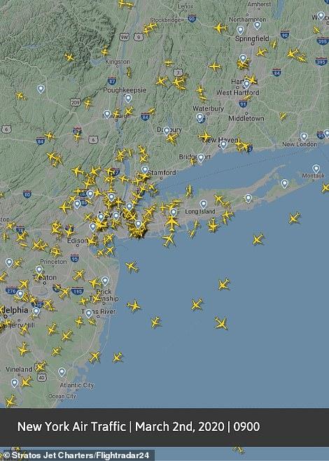 رحلات الطيران فى سماء أمريكا