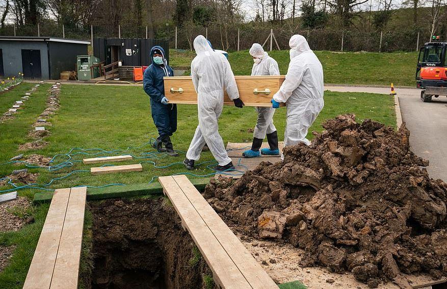 جنازة صبى مسلم أصغر مصاب بكورونا ببدلات وقائية في بريطانيا (6)