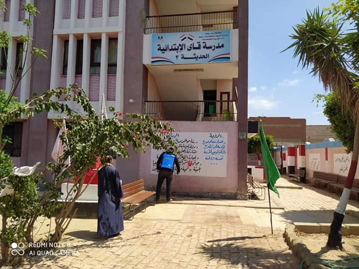 مشاركة المعلمين بتطهير المدارس والمؤسسات ببنى سويف (6)