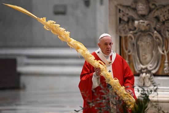 البابا فرانسيس خلال القداس
