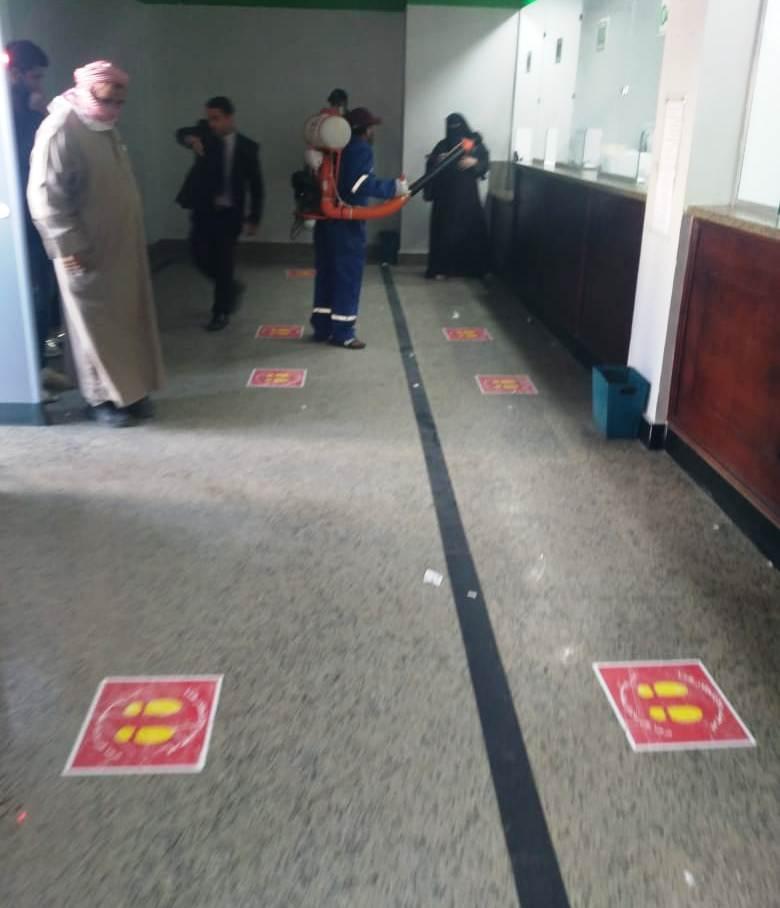 أعمال تطهير وتعقيم المحكمة والسنترال والبريد وبوابات مطار مطروح  (3)