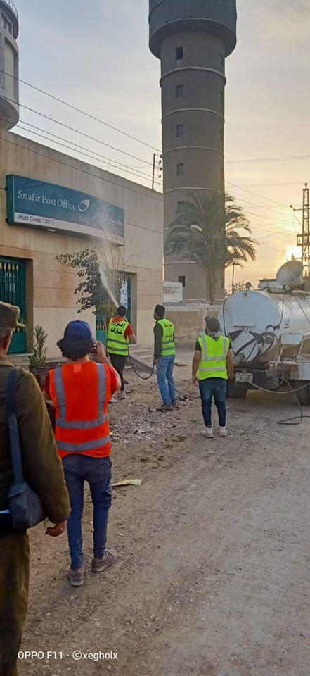 شباب قليوب يطهرون مكاتب البريد بعد انتهاء صرف المعاش 3