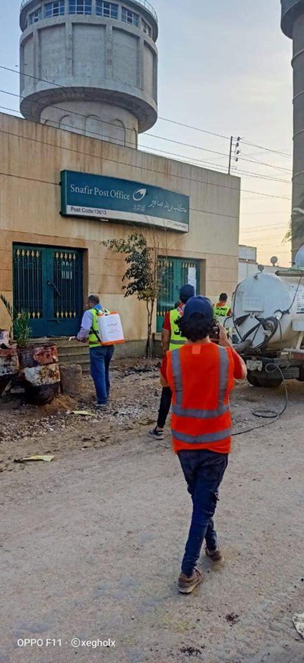 شباب قليوب يطهرون مكاتب البريد بعد انتهاء صرف المعاش 2