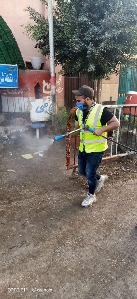 شباب قليوب يطهرون مكاتب البريد بعد انتهاء صرف المعاش 6