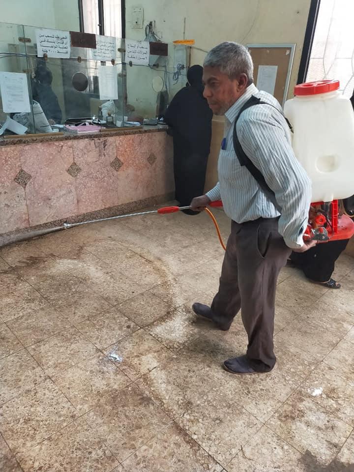 شباب قليوب يطهرون مكاتب البريد بعد انتهاء صرف المعاش 4