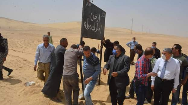 محافظ المنيا يقود حملة مكبرة لاسترداد أراضي الدولة (7)