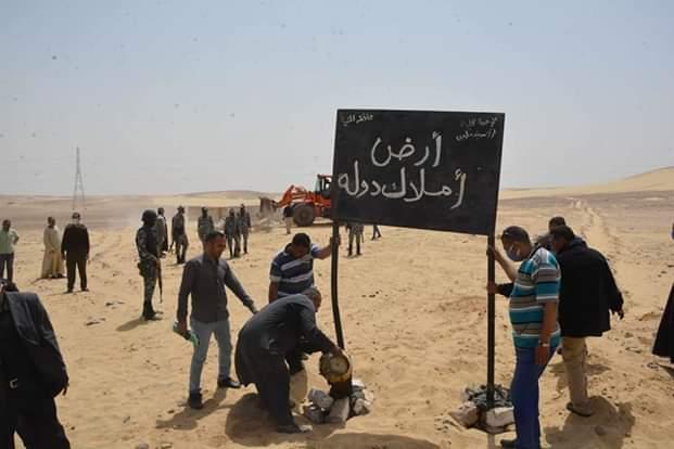 محافظ المنيا يقود حملة مكبرة لاسترداد أراضي الدولة (4)