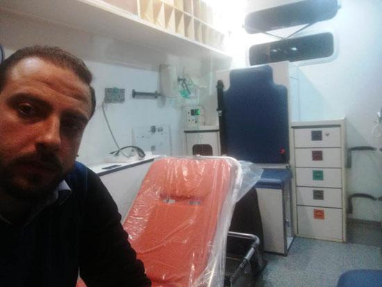 أحد المتعافين من كورونا بمستشفى العزل فى قها (14)