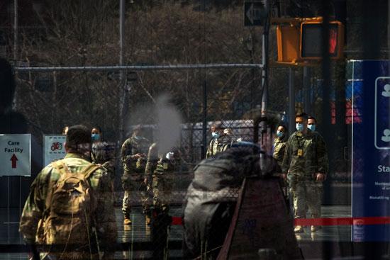 عناصر الجيش الأمريكى فى نيويورك