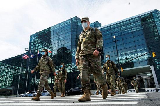 الحرس الوطنى الأمريكي ينتشر لمنع انتشار كورونا