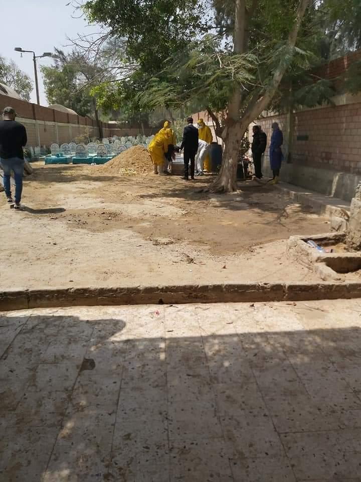 مراسم دفن محمود جبريل رئيس وزراء ليبيا الأسبق