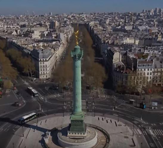 باريس مهجورة فى زمن كورونا  (1)