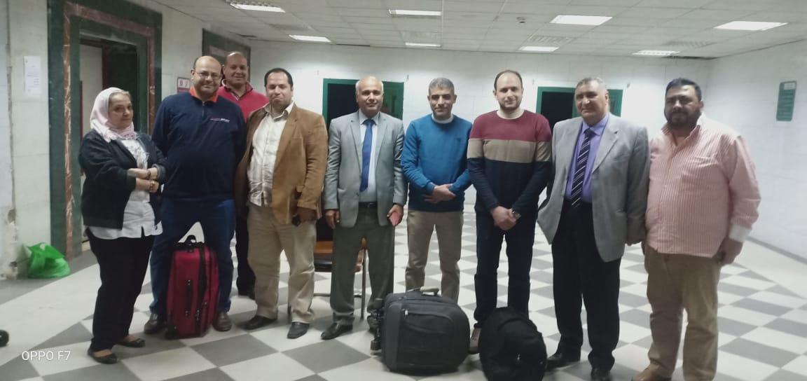 وصول الأطباء المتطوعين لمستشفى كفر الزيات لاستقبال حالات الإصابة بفيروس كورونا (1)