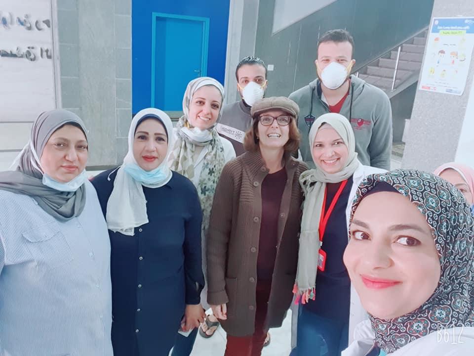 مع الفريق الطبى