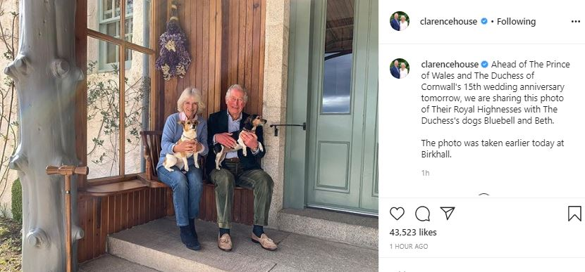 الأمير تشارلز و كاميلا دوقة كورونول يحتفلا بعيد زواجهما الـ 15  (1)