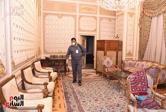 تعقيم و تطهير قاعات البرلمان استعدادا لجلسات الأحد المقبل (9)