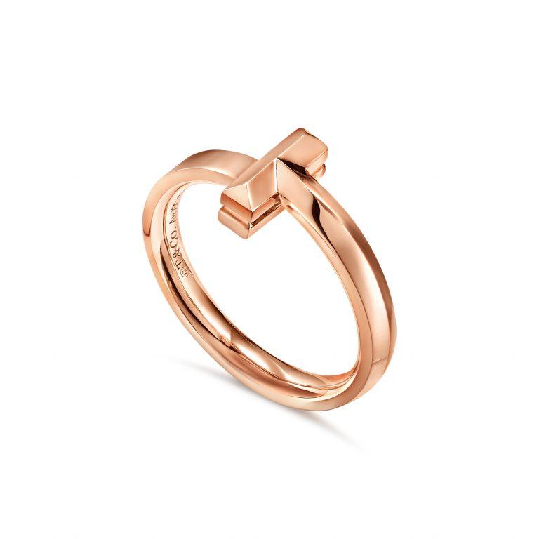 خاتم من الذهب الوردي