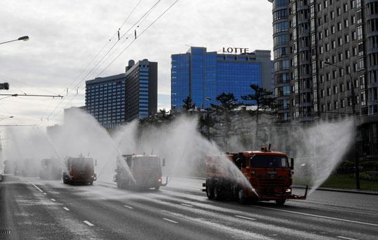 تطهير الشوارع بموسكو