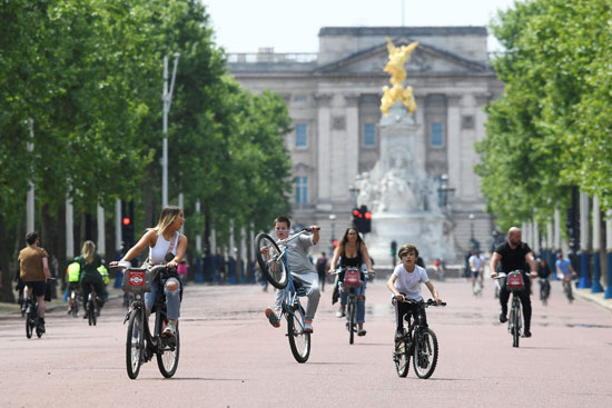 انتشار ركوب الدراجات فى بريطانيا