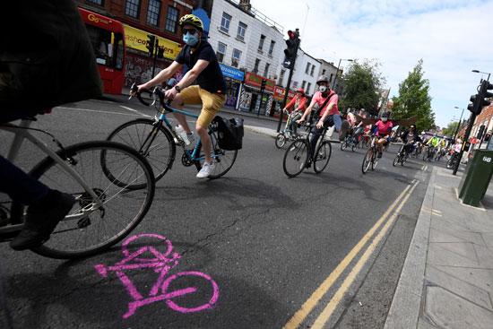 حملات لحث المواطين على ركوب الدراجات
