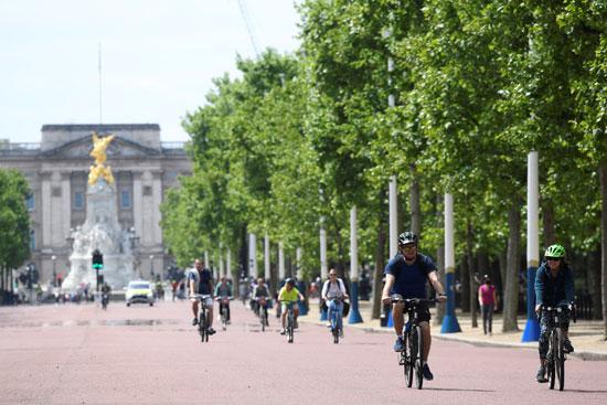 راكبو الدراجات فى لندن