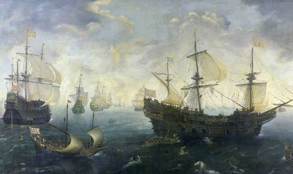 The-Spanish-Armada-a-fleet-of-130-ships-that-sailed-from-Corunna-in-late-May-1588-2468208