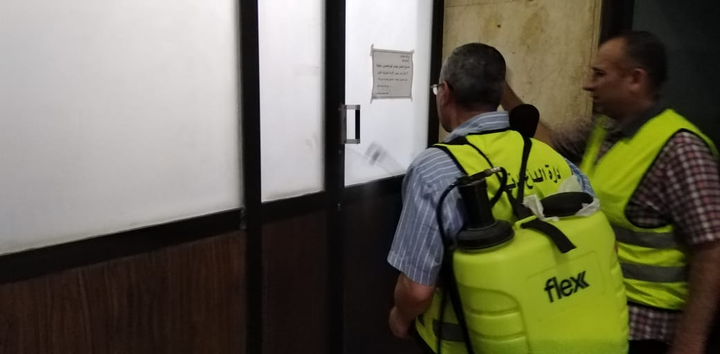 تعقيم مبنى وزارة الرى (16)