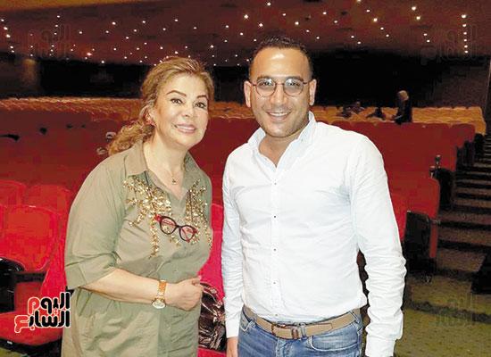 تامر إسماعيل مع صفاء أبو السعود