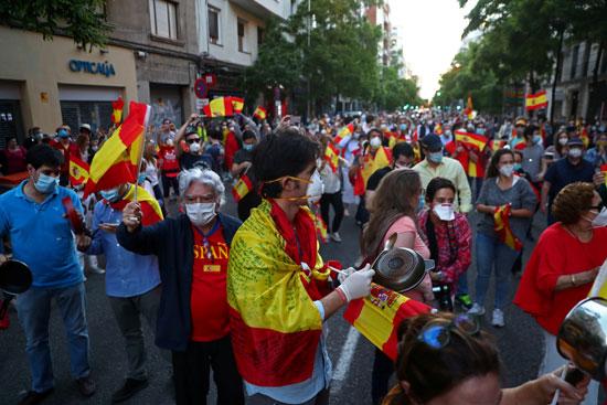 تظاهرات فى إسبانيا