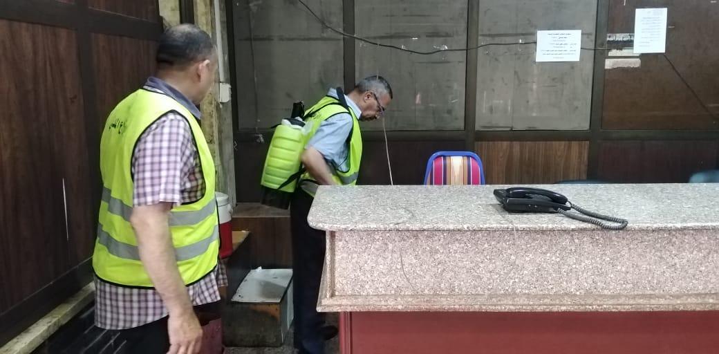 تعقيم مبنى وزارة الرى (20)