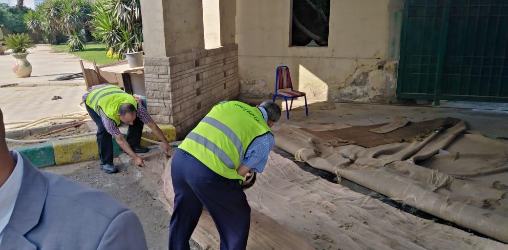 تعقيم مبنى وزارة الرى (7)