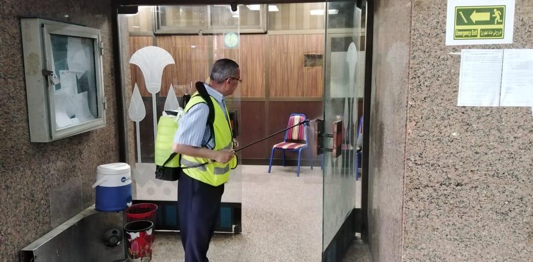 تعقيم مبنى وزارة الرى (19)