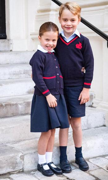 الأميرة شارلوت وأخيها الأمير جورج