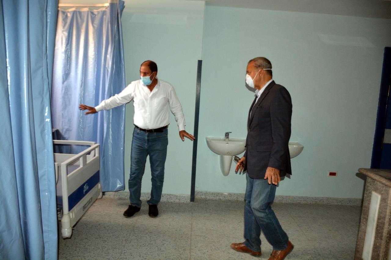 محافظ القليوبية يتفقد اعمال تطوير المستشفى