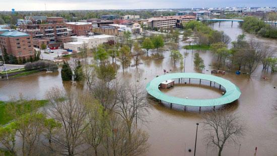 فيضانات ميدلاند فى ميشيجان