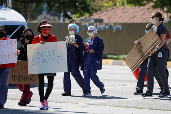مظاهرات فى كاليفورنيا