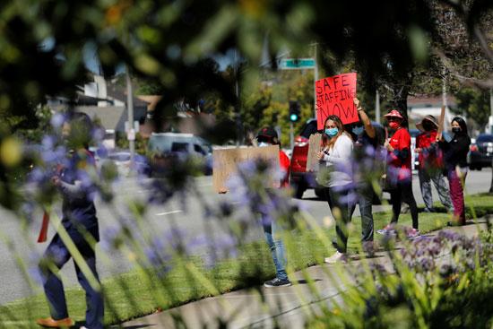 مظاهرة لممرضات كاليفورنيا