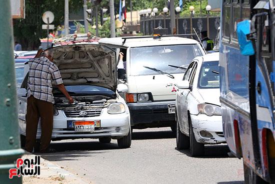 اعطال السيارات بسب ارتفاع الحرارة