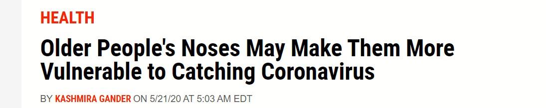 انف كبار السن وعلاقته بفيروس كورونا