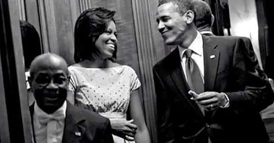 ويلسون بصحبة أوباما وميشيل أوباما
