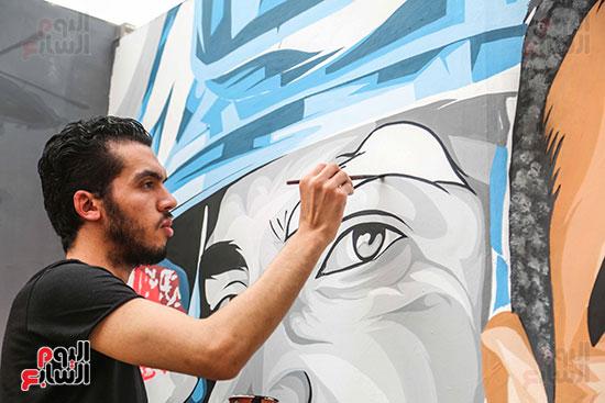 جرافيتي للشهيد أحمد المنسي (11)