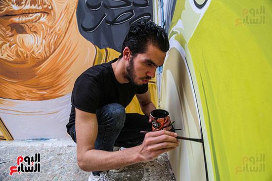 جرافيتي للشهيد أحمد المنسي (7)