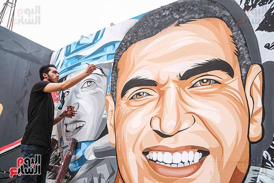جرافيتي للشهيد أحمد المنسي (12)