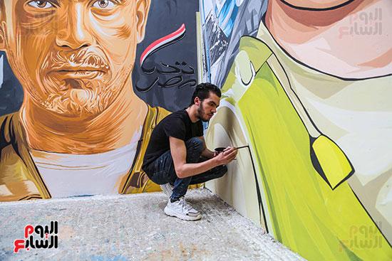 جرافيتي للشهيد أحمد المنسي (6)